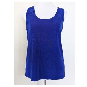 CHICO'S TRAVELERS 2 Size L 12 Blue Tank Top